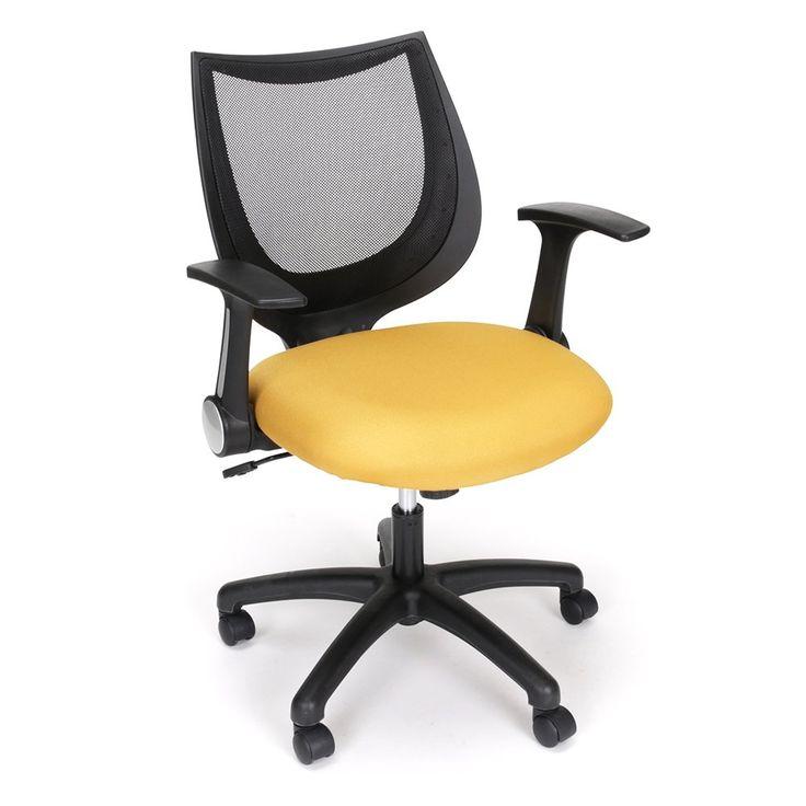 Initial Mesh Back Flip Arm Computer Chair