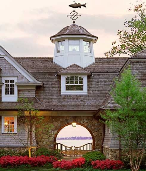 203 best cupolas weathervanes bell towers images on for Shingle style architecture