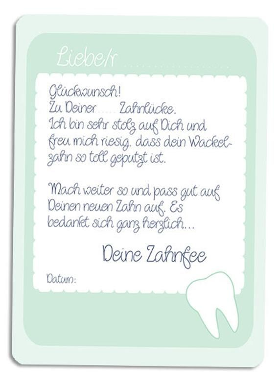 Tooth Fairy Tooth Fee Letter Blue Green Millimi Tooth Fairy Tooth Fairy Letter Lettering