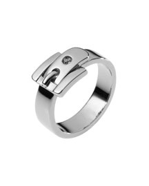 Michael Kors Buckle Ring, Silver