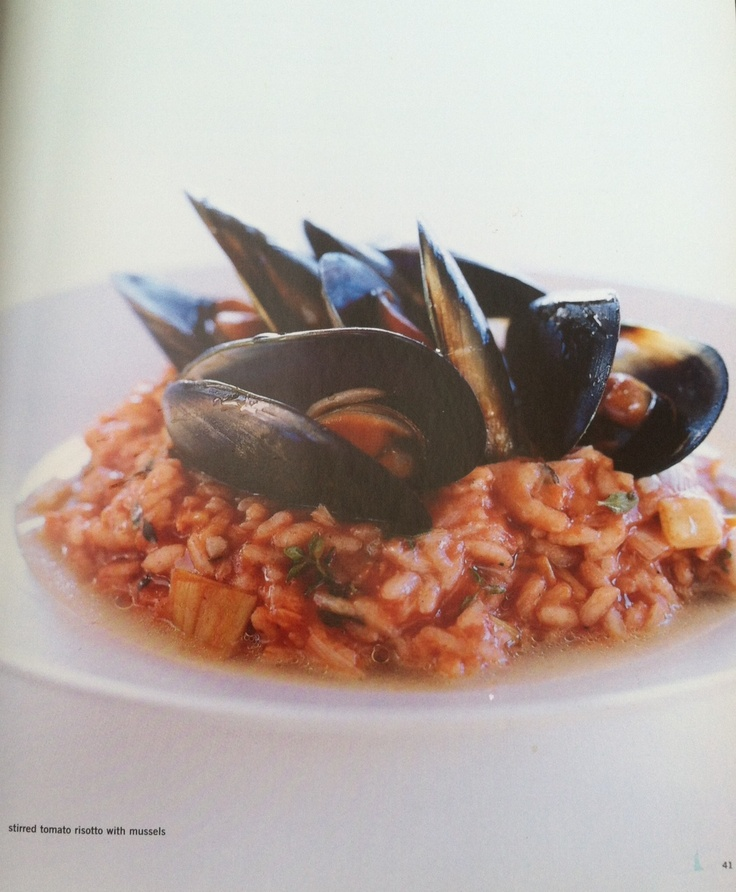pretty seafood risotto