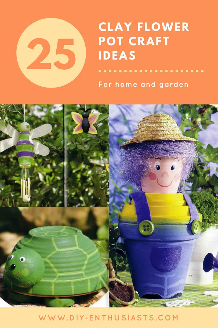 Clay pot people and animals are even better way to personalize your yard.  It's your imagination that make your clay flower pot crafts come alive but