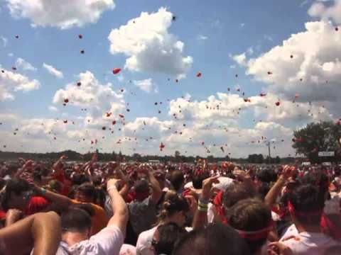 The largest food fight I have ever been in! Who knew throwing tomatoes would be so much fun!  The Tomato Royale is a festival that just started in the United States based on La Tomatina (Spanish pronunciation: [la tomaˈtina]), a festival that is held in the Valencian town of Buñol, in which participants throw tomatoes and get involved in this tomato fight purely for fun.  Check out a short video from the first Tomato Royale festival held in Petersburg, Virginia.