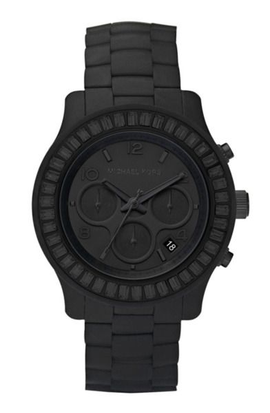 Michale Kors all black watch #mens_fashion #watch #jewelry