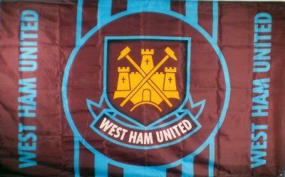 West Ham United FC - Official Crest Flag by West Ham United F.C.. $24.99. Our West Ham soccer flags come direct from the club's representatives in the UK. All West Ham flags come in official West Ham United FC packaging with hologram and/or bar codes.