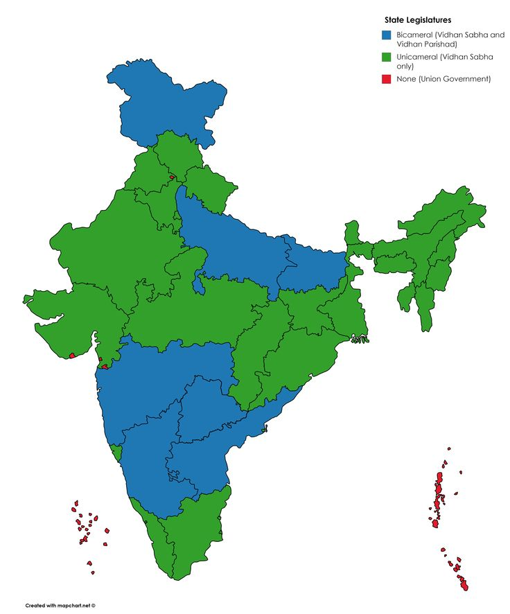 Indian states & UTs by State Legislature [3818x4600]