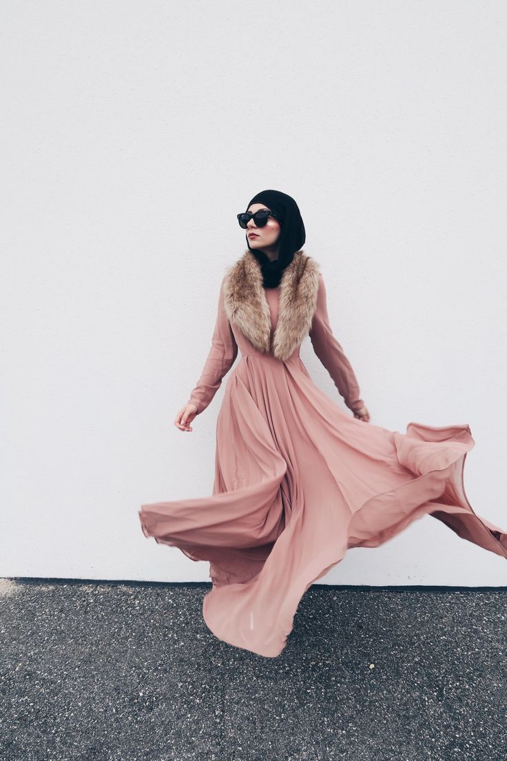 INAYAH | Dusty Pink Arya Evening Gown #INAYAHOOTD