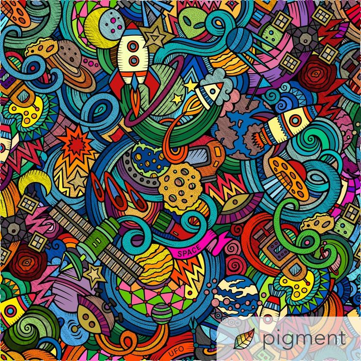 So Many Wonderfully Textured Details On This Space Page Colored By Kuroyo Twitter Have You Tried The Pigment Coloring App Yet Its Best Adult