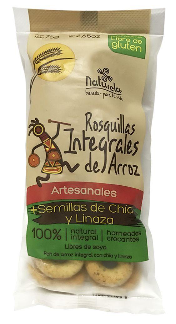 Rosquillas Integrales de Arroz + Semillas de Chia y Linaza  Un snack 100% natural, un alimento funcional y saludable por su aporte de nutrientes. | Naturela