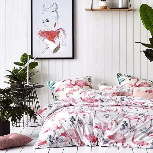 Flamingo Quilt Cover Set