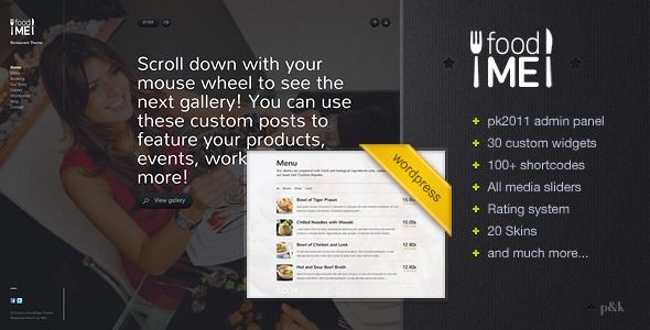 WordPress FoodMe Restaurant Business Theme - Food Retail