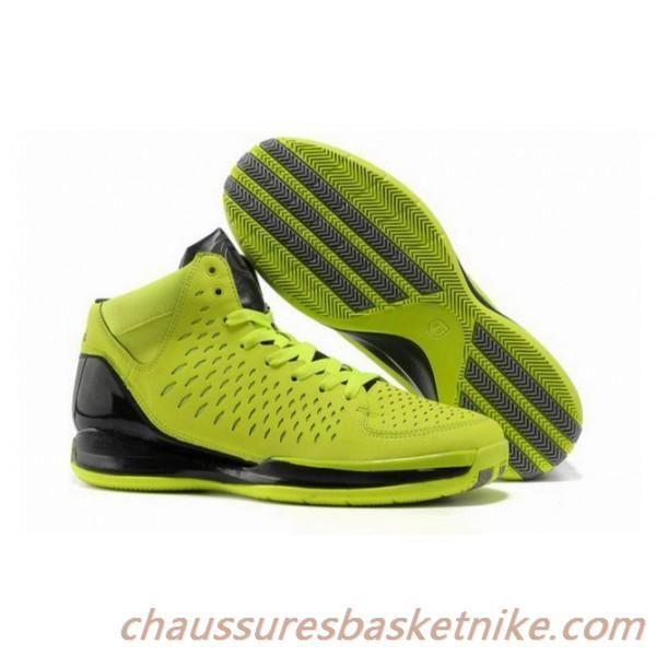 Nouveaux Hommes Adidas Rose 3.0 Chaussures de Basket-ball Vert Noir. Lebron  ...