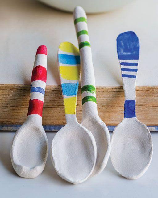 Paper Mache Craft Ideas For Kids Part - 48: Paper Clay Spoons. Paper ClayDiy PaperPaper MacheEasy CraftsEasy DiyKids ...