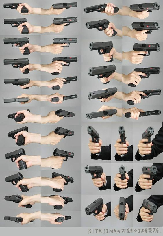 gun drawing reference: