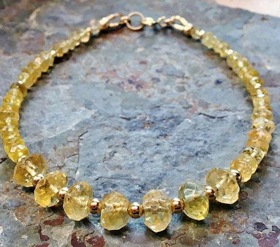 #Handmade Natural #yellow #citrine #bracelet #gold bracelet, #jewelry #jewellery #gemstone # bracelets  Emmalishop