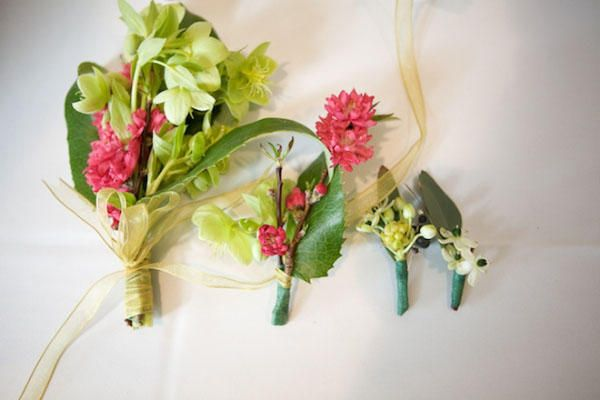 Pink Green Whimsical Wedding Bouquet