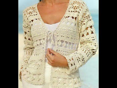 Gráficos para tejer suéter abierto a crochet
