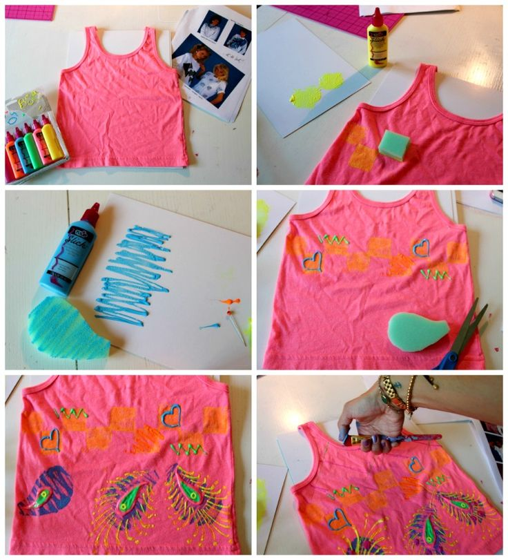 Totally tulip throwback dress puffy paint by little Puffy paint shirt designs