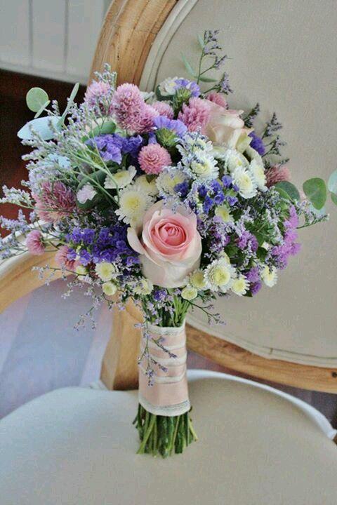 #bouquet de novia de inspiración silvestre