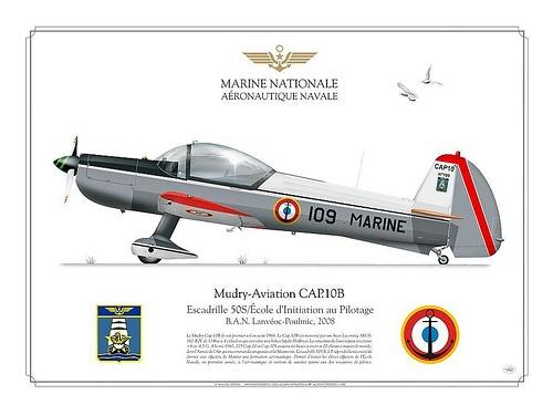 CAP.10B  Navale    CAP.10B Navale    Manufacturer: Mudry-Aviation  Model: CAP.10B   Serial s/n: 109  Tail Code: 109 MARINE    FRENCH NAVY . MARINE NATIONALE  AERONATIQUE NAVALE    Escadrille 50S/École d'Initiation au Pilotage  B.A.N. Lanvéoc-Poulmic, 2008