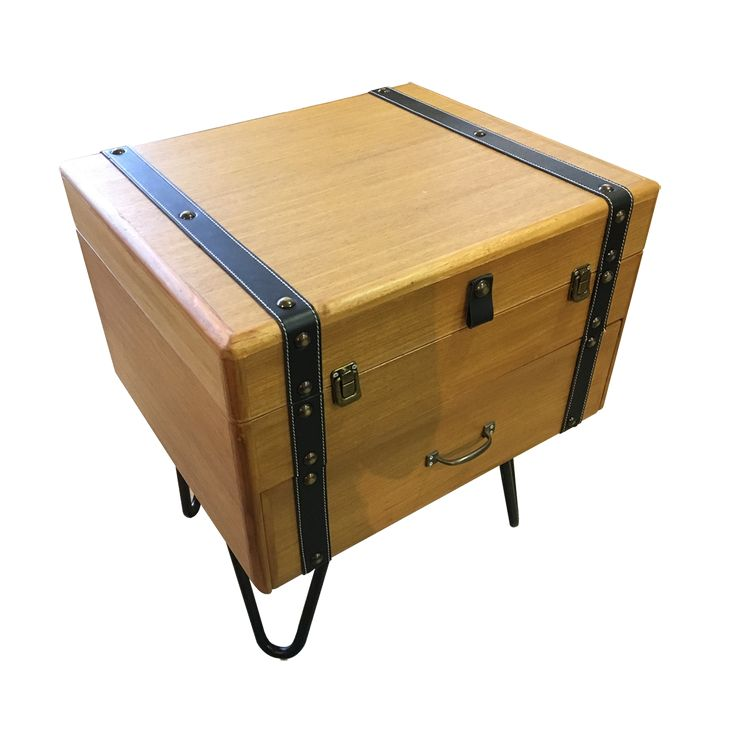 A classic suitcase design of side table. Be it a side table and a perfect storage spot to save some room space.