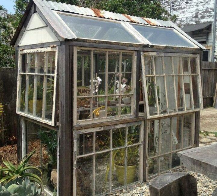 17 best images about greenhouse treehouse on pinterest for Reclaimed window greenhouse