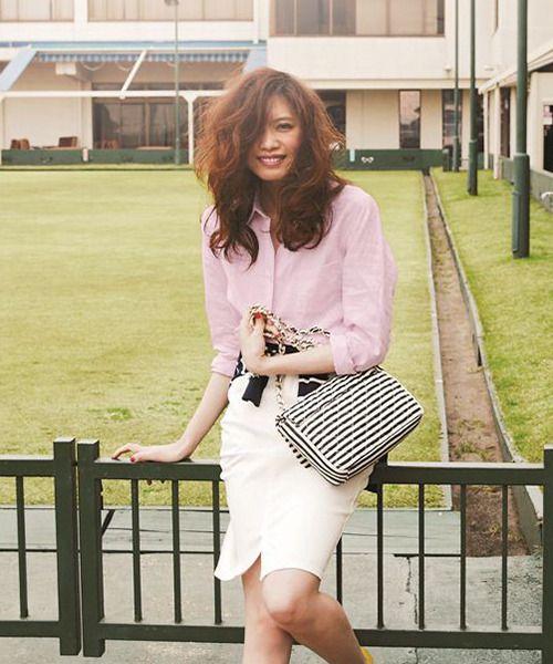 パステルカラーが春らしい Apuweiser-riche(アプワイザーリッシェ)リネンシャツ / Pastel colored linen shirt on ShopStyle