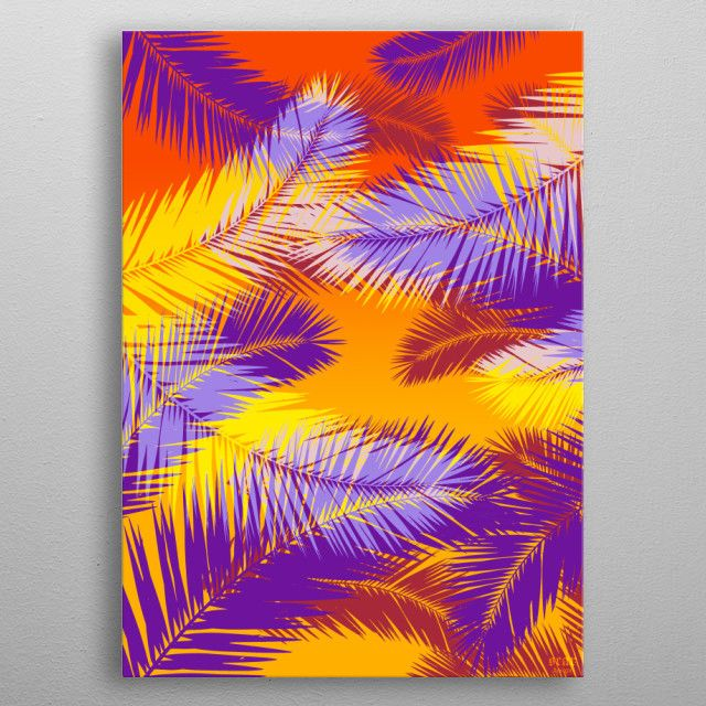 Winter Sale - Use code: SNOWMAN  Buy 3-4 get 15% OFF | 5+ 25% OFF. Tropical Poster by Scar Design. #tropical #palm #leaves #colorful #gifts #home #family #homedecor #summer #life #love #shopping #design #pop #popart #minimal #sunset #giftsforher #kids #colors