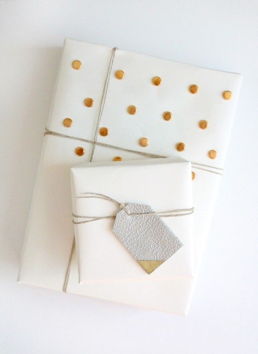 DIY studded gift wrap