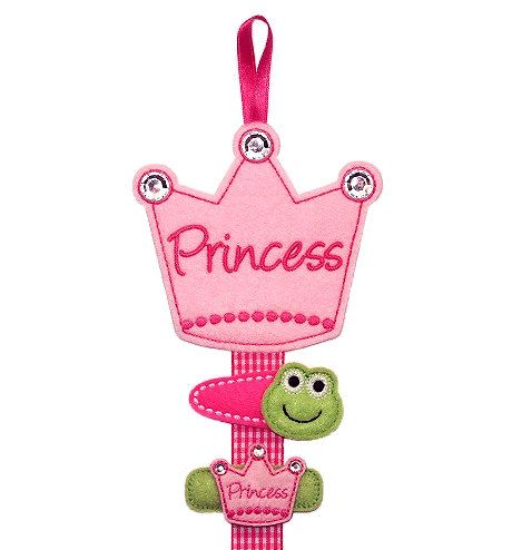 Pretty Little Princess Crown Hair Clip Holder by deborahbabarskas, $9.99