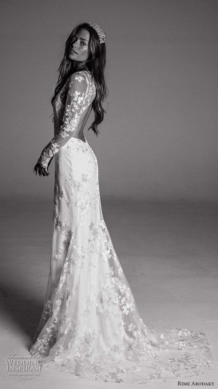 rime arodaky trumpet wedding dress Rime Arodaky Fall Wedding Dresses