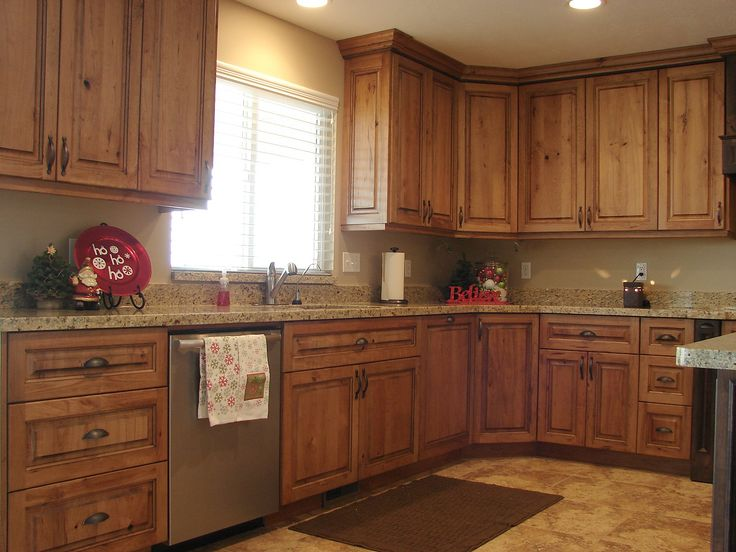 kitchen cabinets knotty cherry | LEC Cabinets: Rustic Cherry Cabinets. Cabinet color