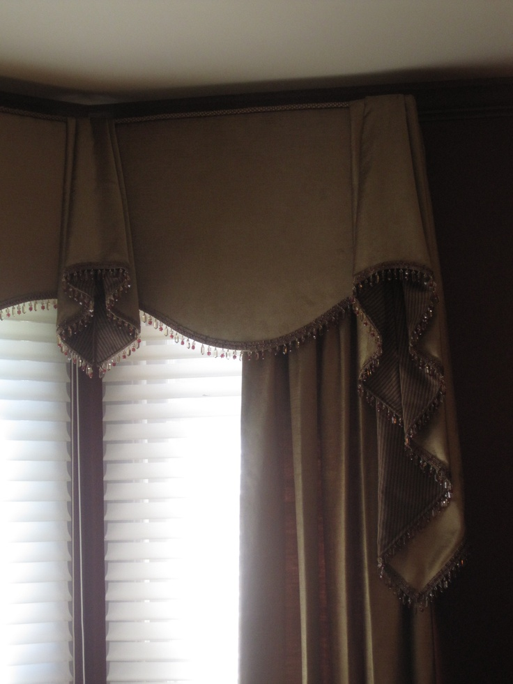 Cornice Board With Side Panels On A Bay Window This Is