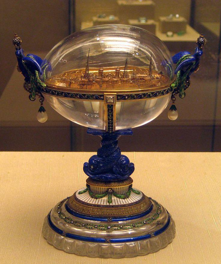 53 best fifty two imperial eggs of carl faberge images on 36 1909 standart jacht ei goud diamanten parels lapis lazuli tsar nicholas iieaster negle Gallery