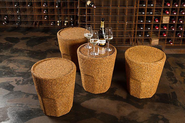 Sgabello In Sughero Riciclato Spritz 45 Greencorks Collection #cork #wine #green #sostenibilità #ecofriendly
