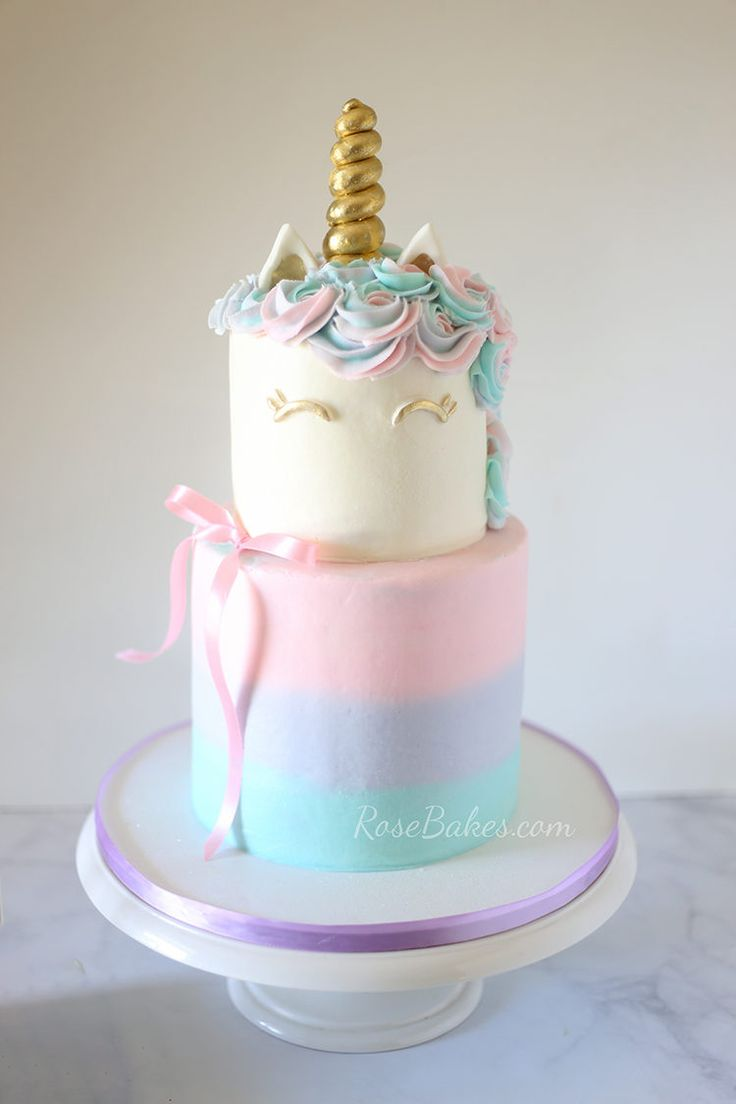 Rainbow Cake Decors Rose Cake
