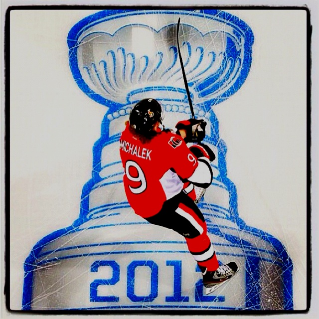 #9 Milan Michalek, game 3 round 1 2012 Stanley Cup playoffs! Ottawa Senators vs New York Rangers.
