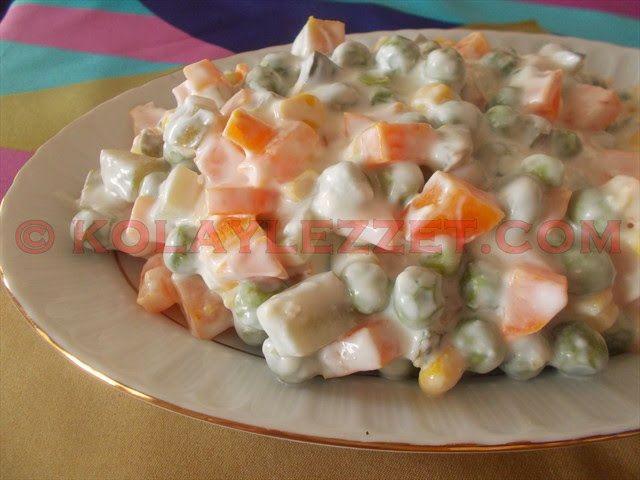 Mayonezsiz-Rus-Salatası-(Amerikan Salatası)