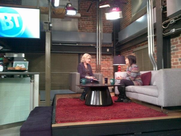 This was a TV interview I did, but I had to get up waaaay too early!
