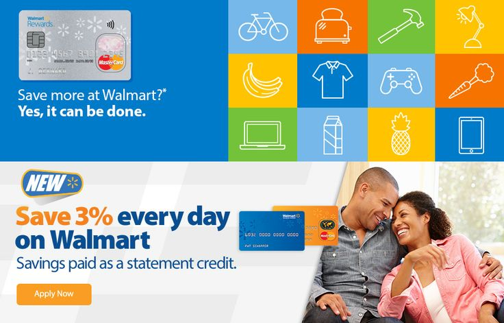 how to pay online walmart credit card