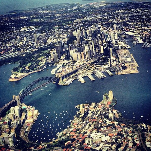 Sydney. See the tall building on the point in the photo to the right. That was our apartment building! Can't believe I found a pin showing it.