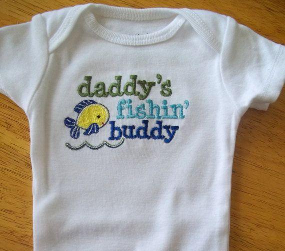 Fishing Buddy Baby Onesie Girls Boys Long Or Short By