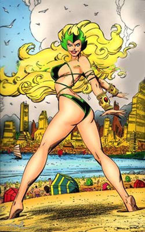 Val Semicks  Enchantress ..Marvel Swimsuit  ..Hand colored Blueline .. for sale…