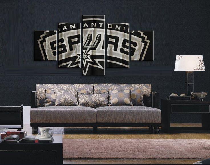 5 Pieces/set San Antonio Spurs Canvas Painting Wall Art