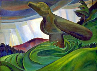 Big Raven, Emily Carr, 1931  http://www.thecanadianencyclopedia.com/media/big-raven-1346.jpg