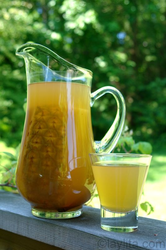 Pineapple chicha drink, this is what we drink when we have a fresh pineapple, it is made from the peelings and the core that you are left with when you have eaten the pineapple :) nothing goes to waste