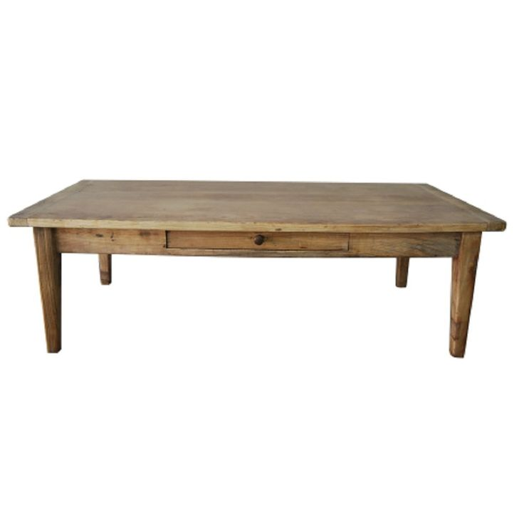 Recycled Elm French 1 Drawer Coffee Table - Living