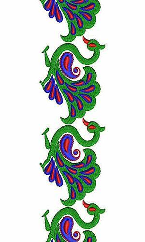 7928 Peacock Lace Design