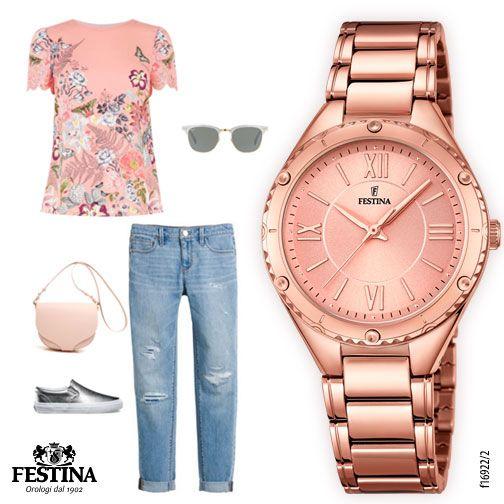 Un look in rosa per questo venerdì, perfetto per un aperitivo all'aperto!
