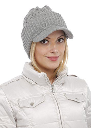 New Women Warm Winter Thick Slouchy Knit Snow Ski Hat With Visor. Women Hats    10.99 - 16.19 nanaclothing 0a6ff61d96c